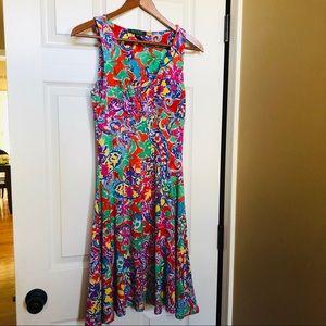Lauren Ralph Lauren colorful dress XS